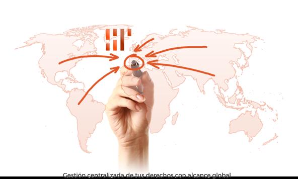 Gestión centralizada de tus derechos con alcance global